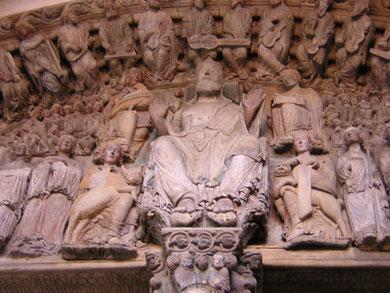 Pantocrátor del Pórtico de la Gloria. Catedral Santiago de Compostela.