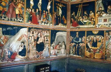 Capilla de San Miguel. Pinturas murales por Ferrer Bassá 1346. Monasterio de Pedralbes, Barcelona