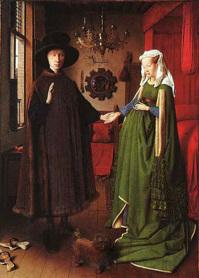 El matrimonio Arnolfini.Jan van Eyck.1434. National Gallery. Londres