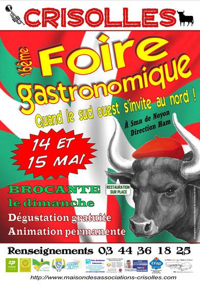 Affiche de la 16è Foire gastronomique de Crisolles