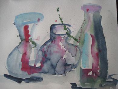 Flaschen, abstrakt