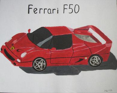 Auch ein rotes Auto bedeutet für manche Glück