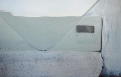 Andrea Ridder: Übergang, Acryl & Sand auf Leinwand, 2011, 110 x 140 cm