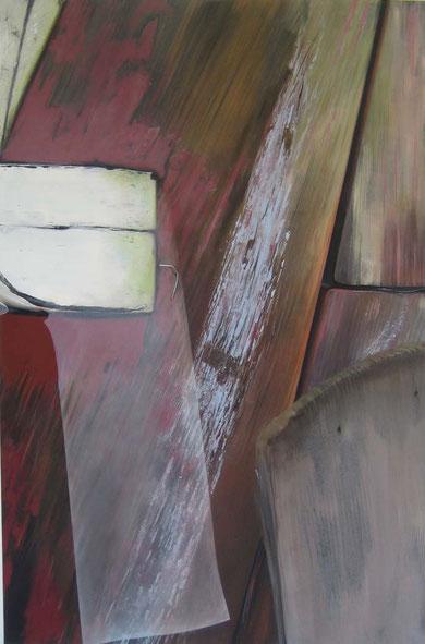 Andrea Ridder: O.T.11-08-02, 2011, Acryl & Airbrush, 100 x 150 cm