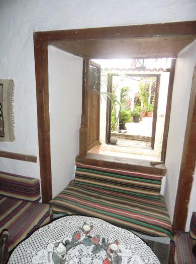 Ausgang zu einer der Terrassen