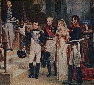 ティルジットでプロイセン王妃ルイーゼを迎えるナポレオン