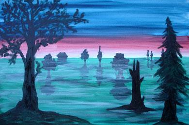 Der Nebel, 2012 (Acryl auf Leinwand, 40x60)