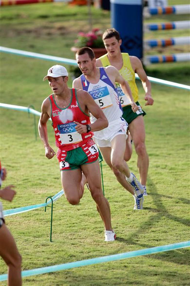 2004 Athens: A tight finish for the medals - Meliakh (BLR), Capalini (CZE) and Zadneprovskis (LTU)