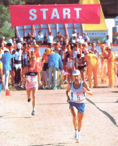 1984 Los Angeles: Massullo (ITA) and Jung (SUI) set off on the run