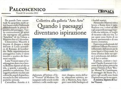 """Articolo della """"Cronaca di Mantova"""""""