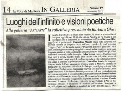 """Articolo della """"Voce di Mantova"""""""