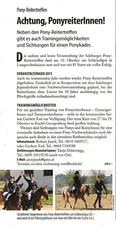 Reiter-Revue: 2011