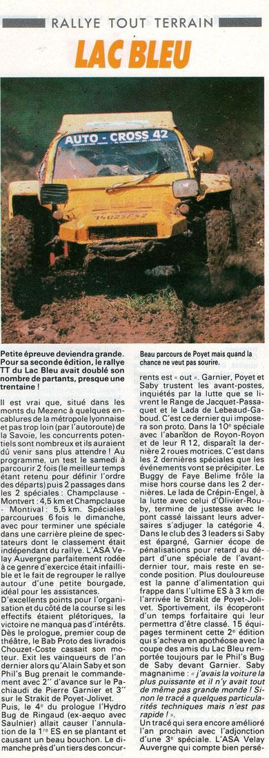 1987 - Echappement - Le Lac Bleu