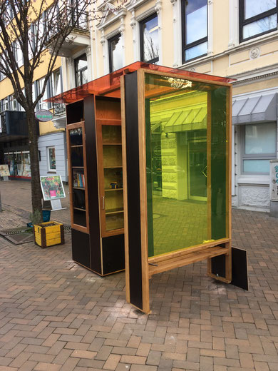Die Bücherbox in der Flensburger Neustadt.