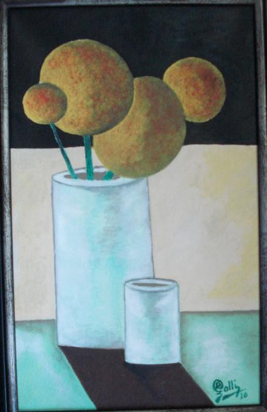 Golli Ramadana - Waiting for... -  olio tela - 25 x 40 - 2010