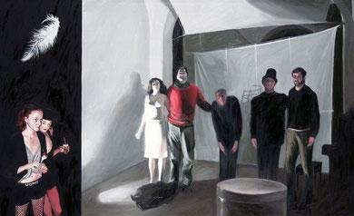 """""""TEATRO"""",anno 2009,olio su tela,130 cm x 80 cm"""
