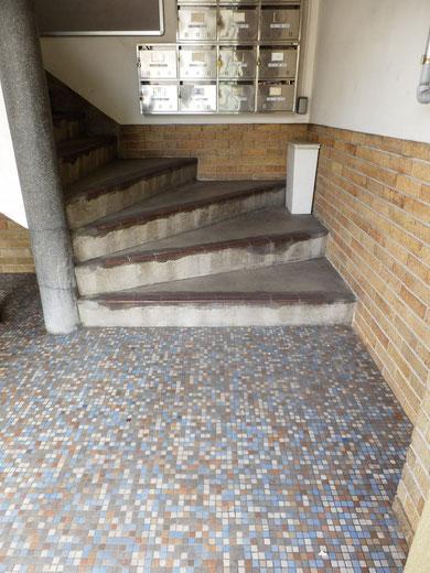 床のタイルがかっこいい