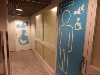 ヴァンター空港のトイレ