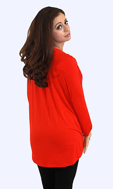 long sleeve red maternity top
