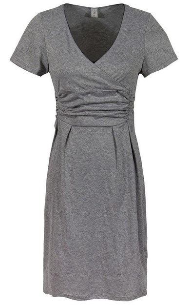 gray maternity dress