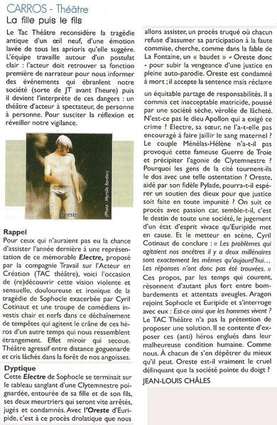 La Semaine des Spectacles - Alpes Maritimes - Janvier 2013