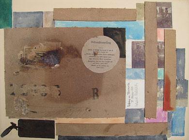 Erinnerungen-was vom 1.WK bleibt, Collage 2011, 45x60cm, Jens Walko, walko-art in Waldenbuch