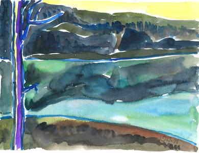 Stausee Glems 2, 2011, 24x32cm, Jens Walko Kunst, walko-art