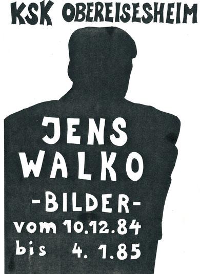 Jens Walko Ausstellung 1984, Kreissparkasse Neckarsulm Obereisesheim
