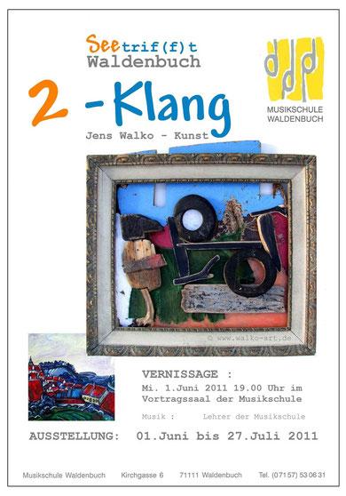Ausstellungsplakat 2011, Waldenbuch Musikschule, Jens Walko Kunst