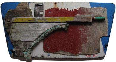 Die Landung Normandie, D-Day, 2011, 37x78cm, Jens Walko Kunst, walko-art