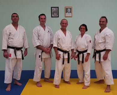 Les enseignants : Patrice, Kevin, Jean-Michel, Françoise et Damien