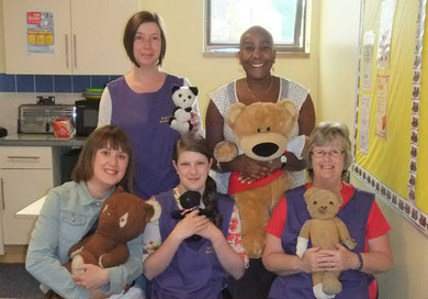 Staff have teddies too!