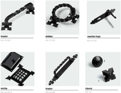 Accesorios rústicos negros de forja
