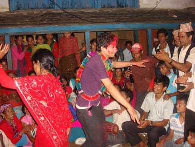 Bishnu tanzt mit