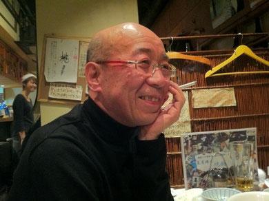 研究会後の懇親会で 鷲田清一さん