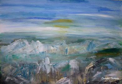 Island Panorama, Acryl auf Leinwand, Christel Thoenes