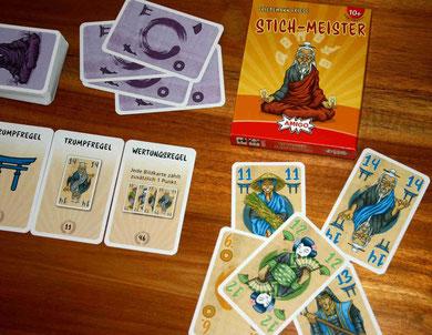 Stich-Meister von Amigo für 2-5 Spieler ab 10 Jahren