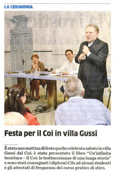 """da """"Il Cittadino di Monza e Brianza"""", 10 Maggio 2013"""
