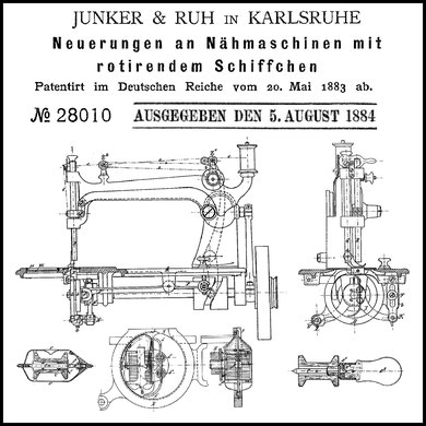 Junker & Ruh Two-Reel machine