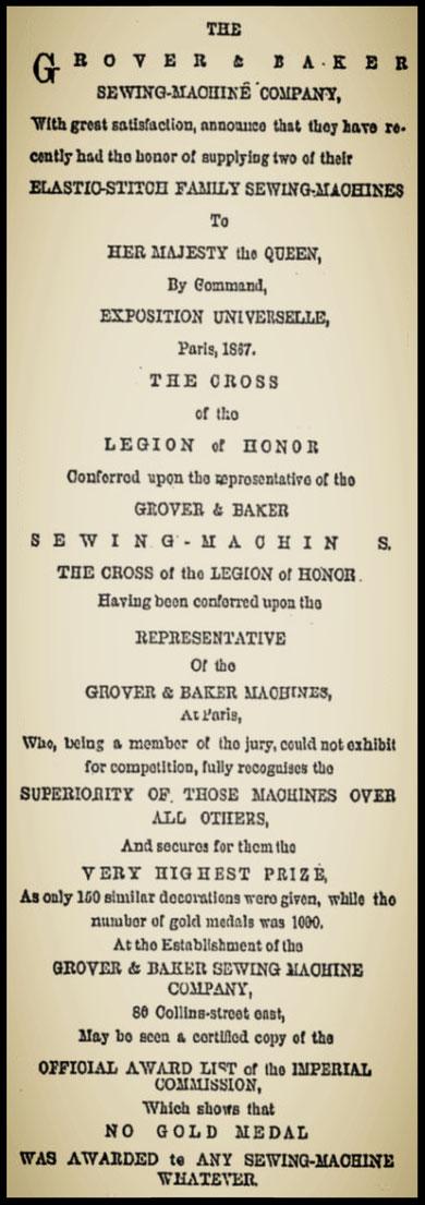 1867  Advertisement