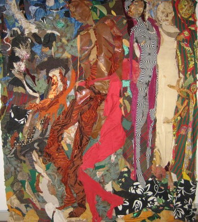 Night Moves  2012   stoffa su tela / material   120 x 180 cm
