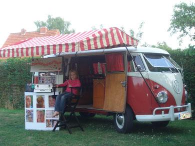 Unser Schminkstand mit VW Bus Oldtimer