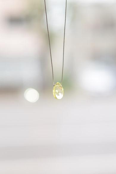 siki(シキ)「石の雫ネックレス(レモンクォーツ)」