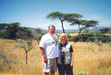 Ben and Barb on Kenya Safari, July 2002