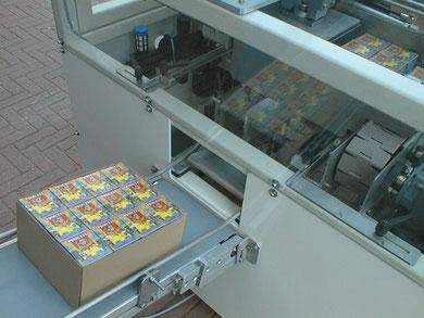 Traypacker voor trays met  hoge & lage randen