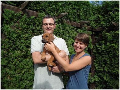 Thambo lebt nun bei Rolf Wiehn und Nadine Harsch in Zweibrücken