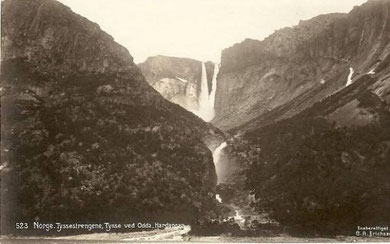 Alte Postkarte, Tyssestrengen an Ringedalsvatnet