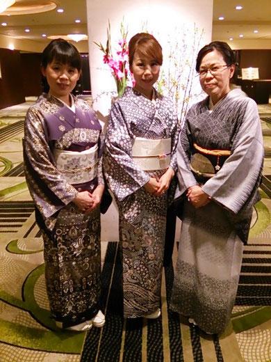 あゆみキモノ学院 新年の集い 訪問着 着物パーティー