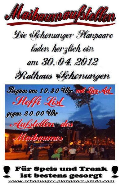 Schonunger Planpaare - Maibaum 2012
