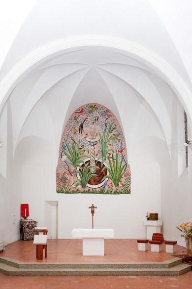 Sophie Guerin Gasc, Dom Robert, église Massaguel, Montagne Noire, Terres d'Autan, Abbaye, Aubusson, peinture murale, tapisserie, que faire à Massaguel